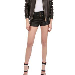giuseppe zanotti • NEW • 🦈leather shorts